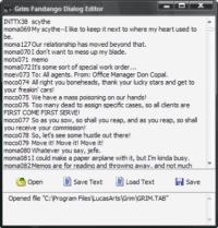 Grim Fandango Dialog Editor