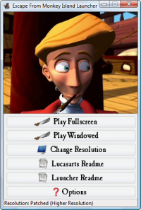 Escape From Monkey Island Launcher